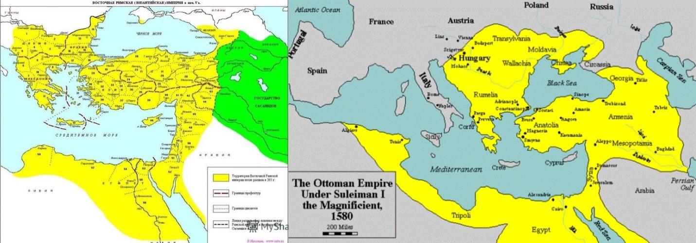 Какую территорию занимала византия